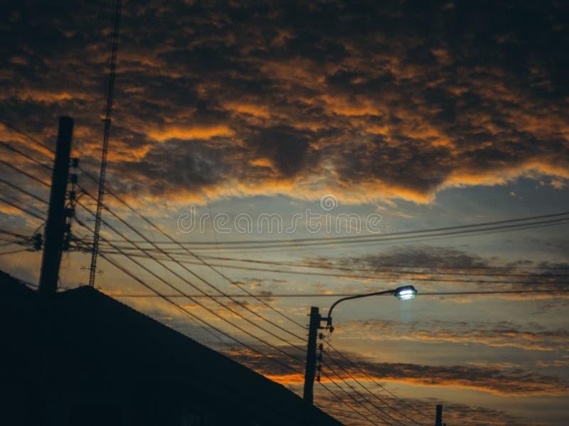 风雨如磐的天空来临 图库摄影