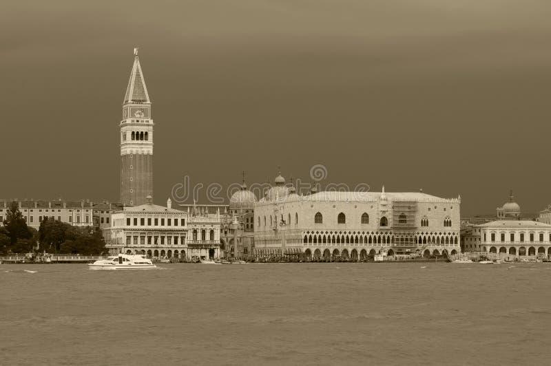 风雨如磐的威尼斯 免版税库存图片