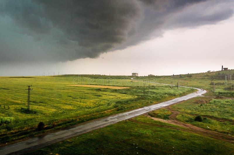 风雨如磐的早晨 免版税图库摄影