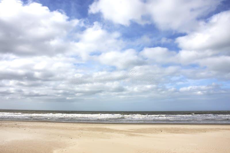 风雨如磐的海岸 库存图片
