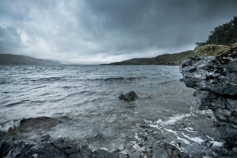 风雨如磐的海湾 库存照片