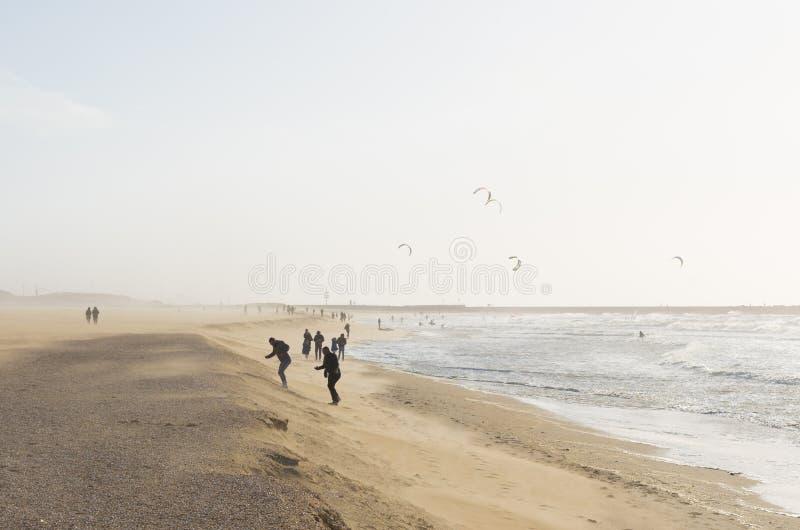 风雨如磐的海滩 图库摄影