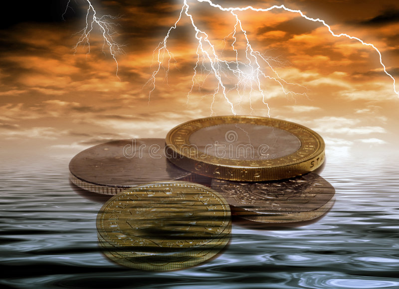 风雨如磐的货币 皇族释放例证