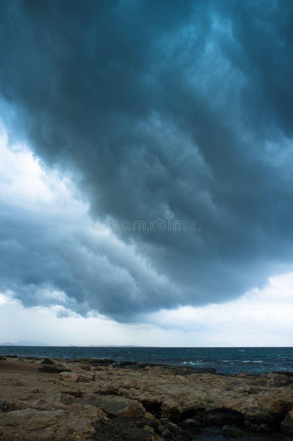 风雨如磐的cloudscape 免版税库存图片