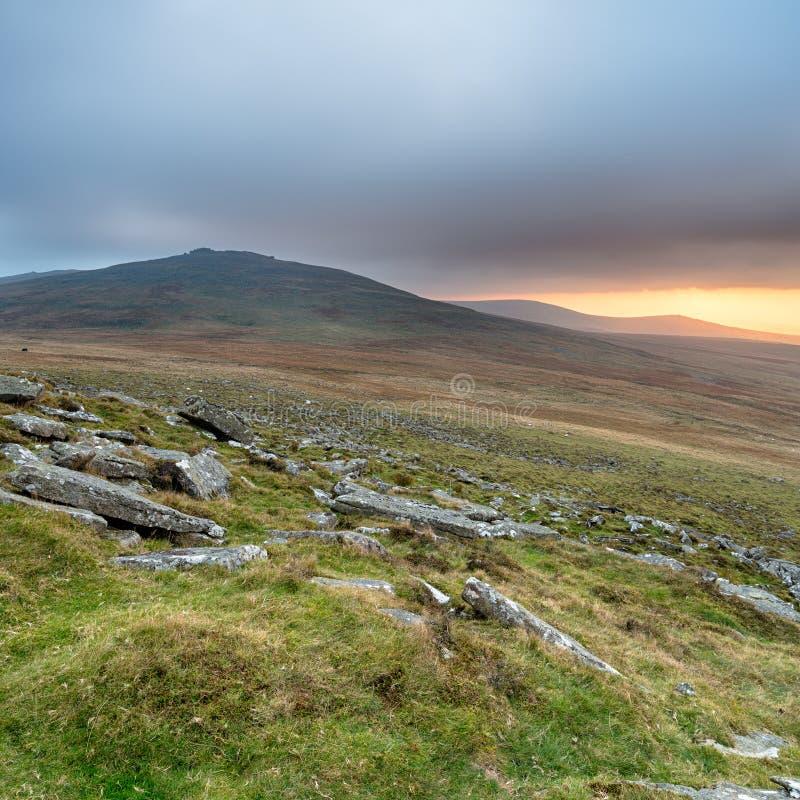 风雨如磐的Dartmoor 图库摄影