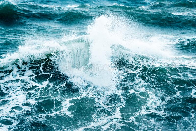 风雨如磐美丽的海运 免版税图库摄影