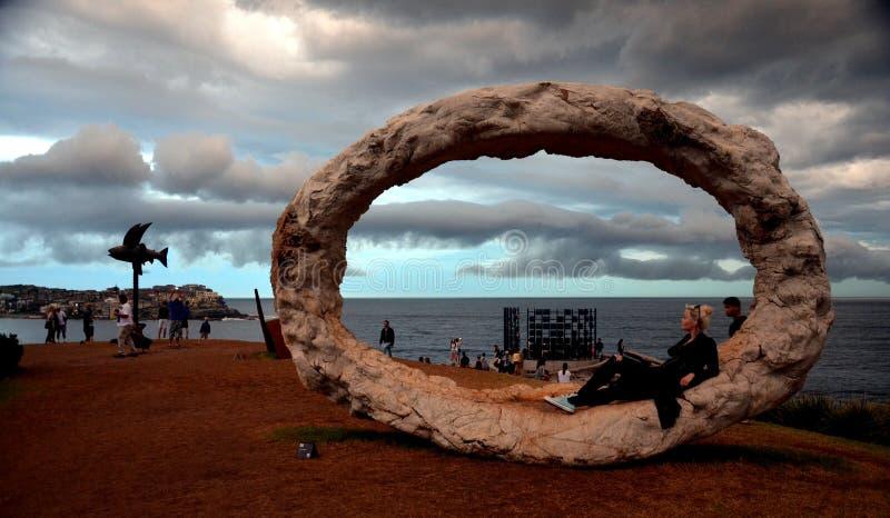 风暴发生了在悉尼在公开陈列时 免版税库存图片