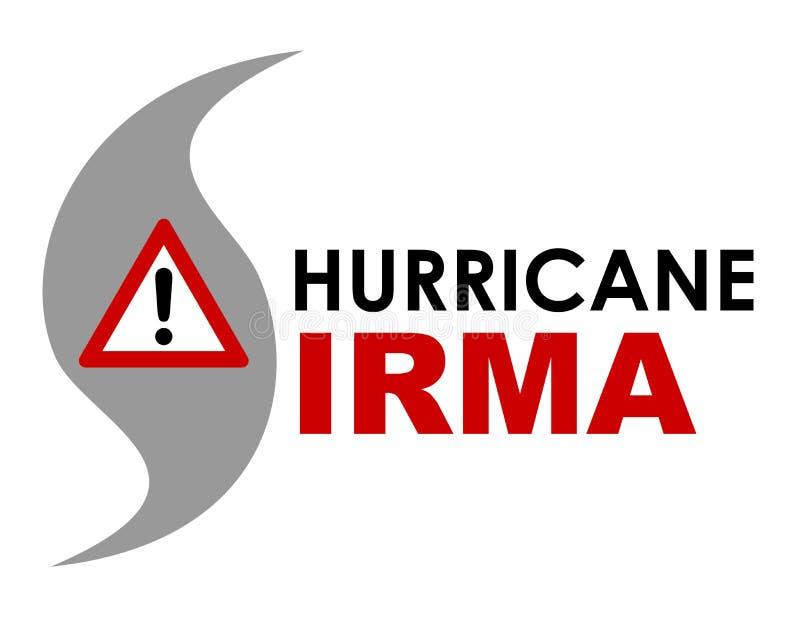 飓风厄马商标 库存例证