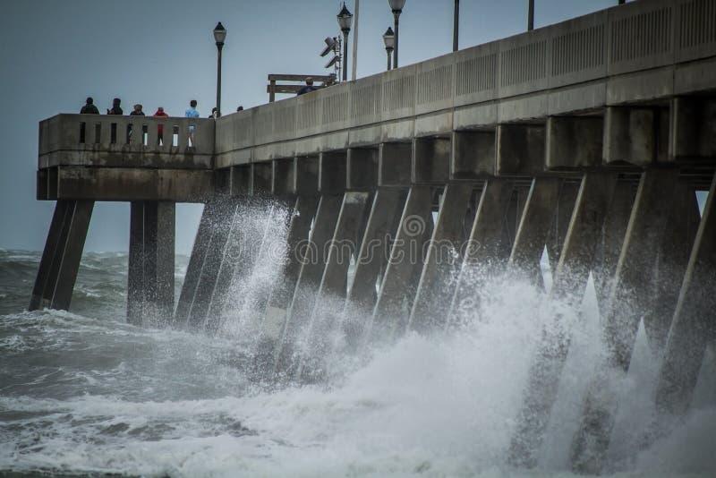 飓风厄马残余 免版税库存照片
