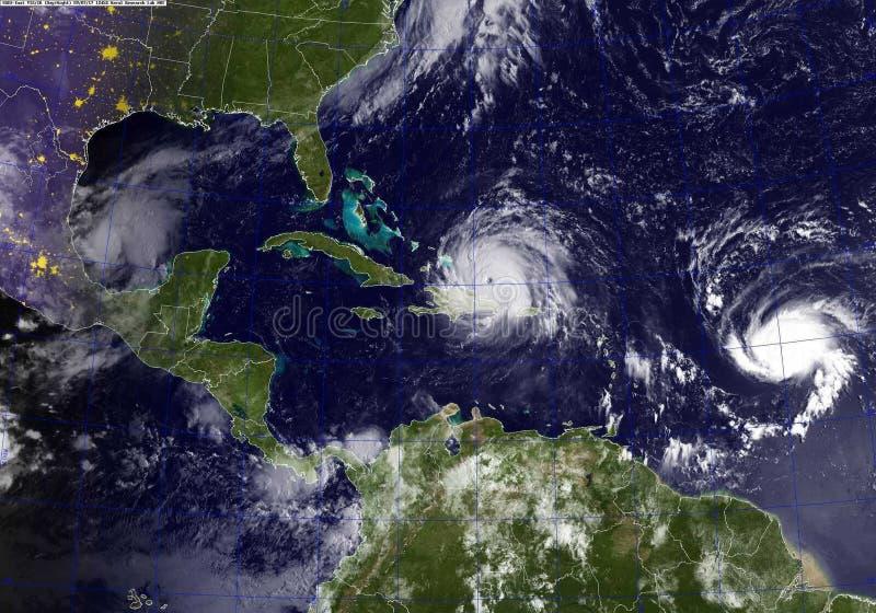 飓风厄马 库存图片