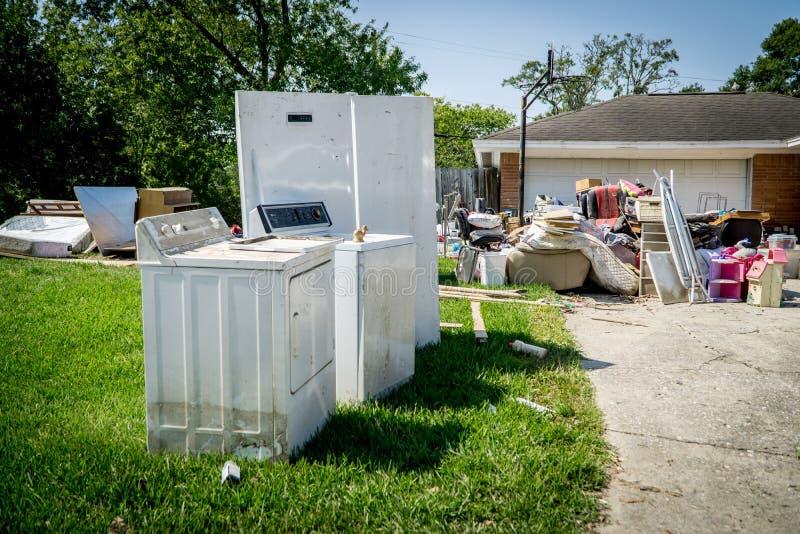飓风哈维后果 免版税图库摄影