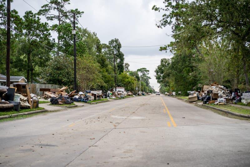 飓风哈维后果 库存照片
