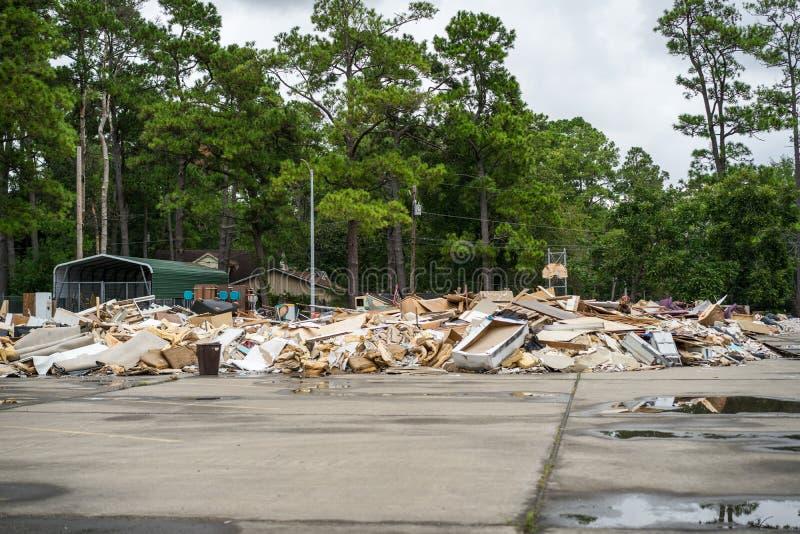 飓风哈维的毁灭 免版税库存图片