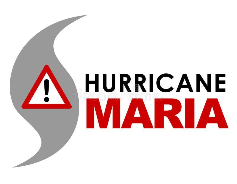 飓风玛丽亚商标 向量例证