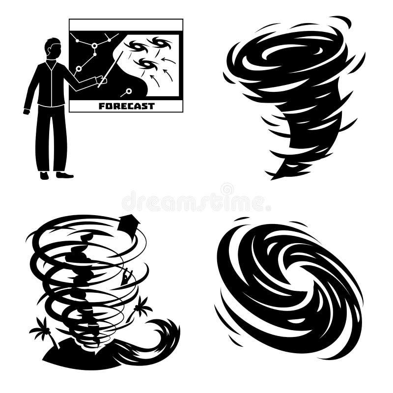 飓风象集合,简单的样式 皇族释放例证