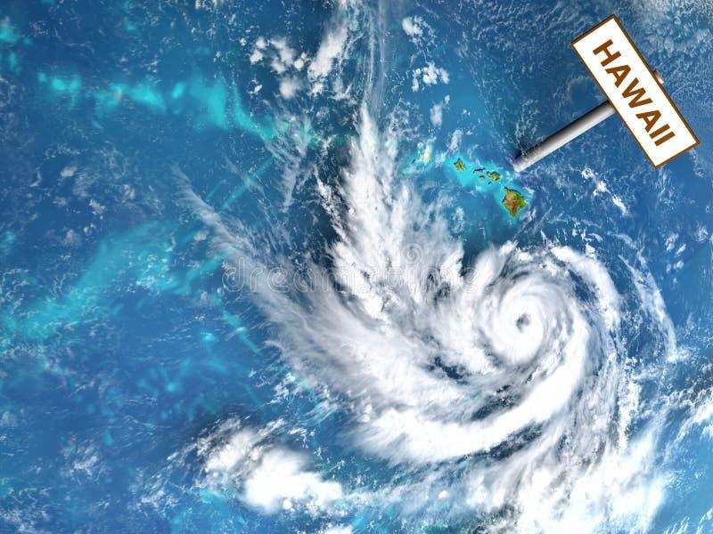 飓风车道ner夏威夷群岛 库存例证