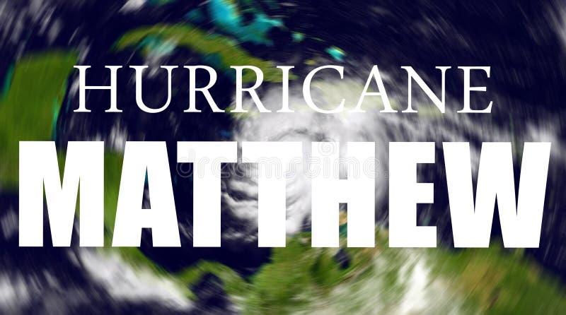 飓风马修危险 库存例证