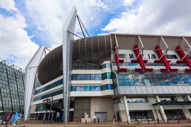 飞利浦大球场在艾恩德霍芬,荷兰 库存照片