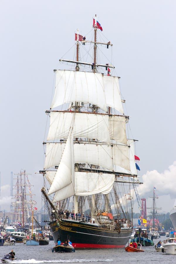 飞剪机风帆船'Stad阿姆斯特丹' 库存图片