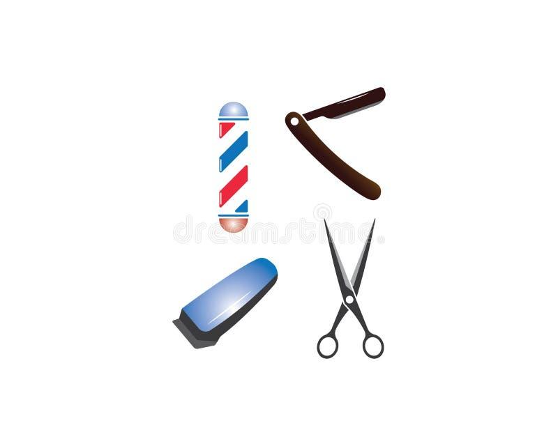 飞剪机,刮脸商标模板 库存例证