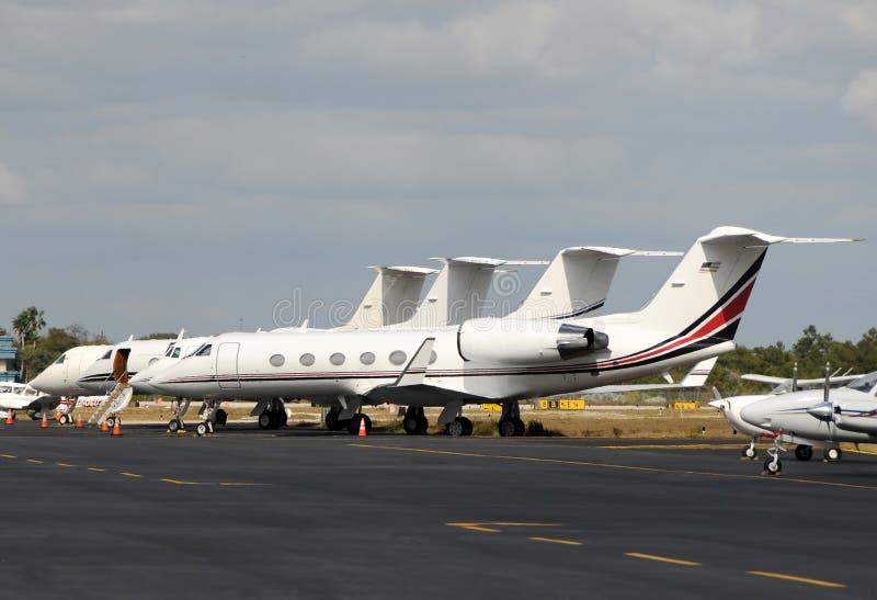 飞机企业喷气机 库存图片