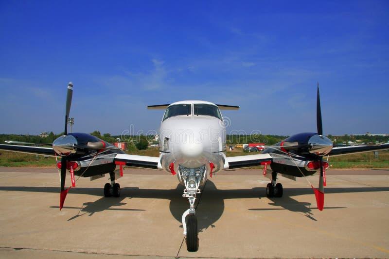 飞机企业飞行 库存图片