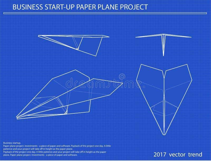飞机传染媒介图纸 库存例证