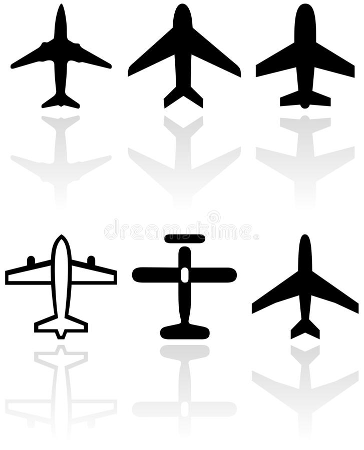 飞机例证集合符号向量 皇族释放例证