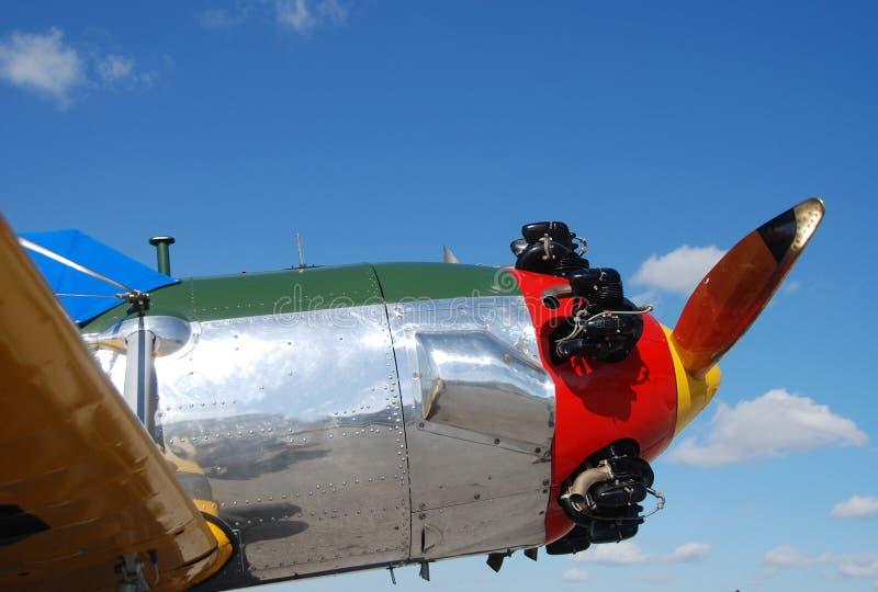 飞机减速火箭的样式 免版税图库摄影