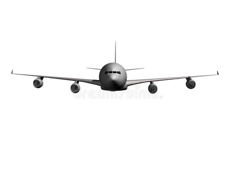 飞机前面 向量例证