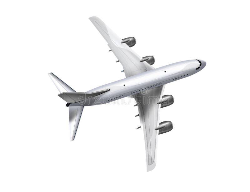 飞机剪影 向量例证