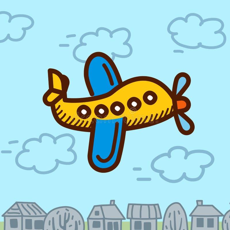 Download 飞机动画片 向量例证. 插画 包括有 秋田, 减速火箭, 图标, alamos, 马达, 运费, 婴孩, 飞行 - 72360092