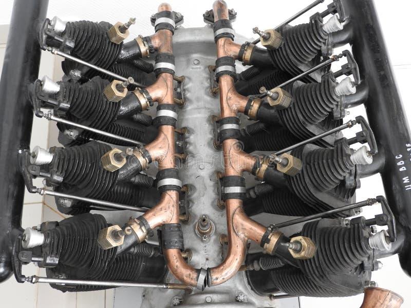 飞机发动机的内部元件和零件 免版税库存照片