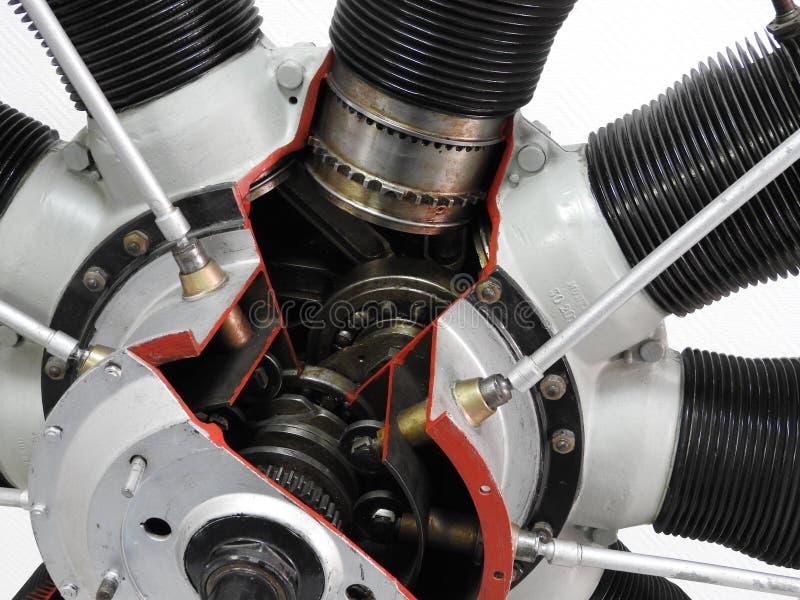 飞机发动机的内部元件和零件 库存图片