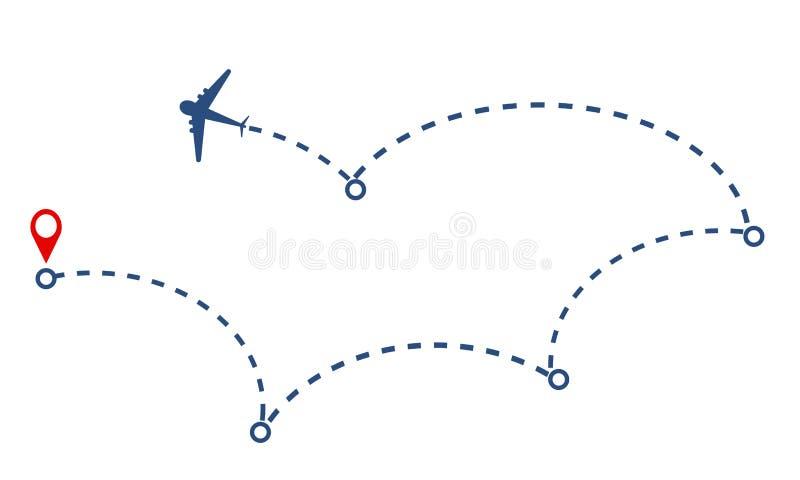飞机和轨道设计,储蓄传染媒介例证 库存例证