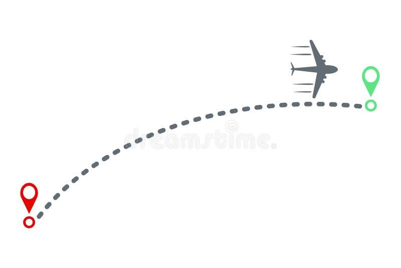 飞机和轨道设计,储蓄传染媒介例证 皇族释放例证