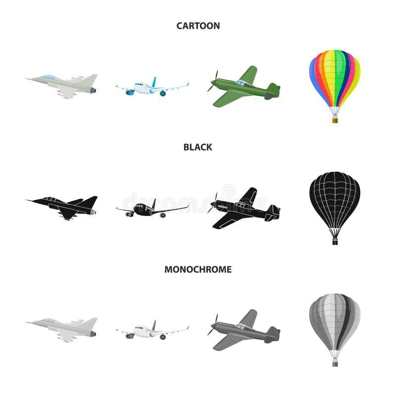 飞机和运输象传染媒介设计  套飞机和天空储蓄传染媒介例证 库存例证