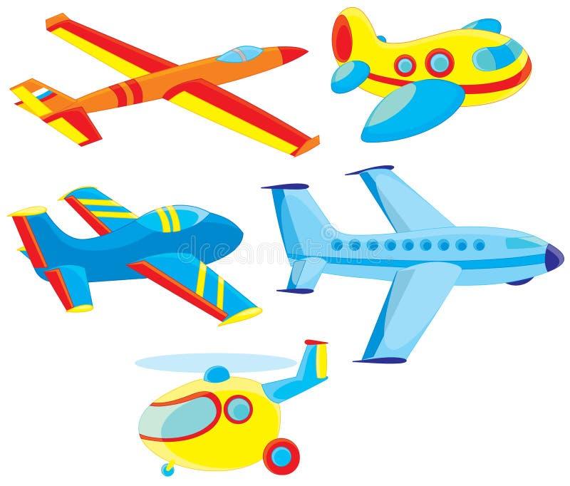 飞机和直升机 库存图片