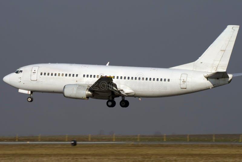 飞机喷气机白色 免版税库存图片