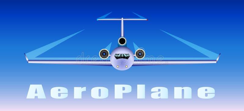 飞机在天空飞行 皇族释放例证
