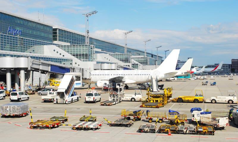 飞机场横向 免版税库存图片
