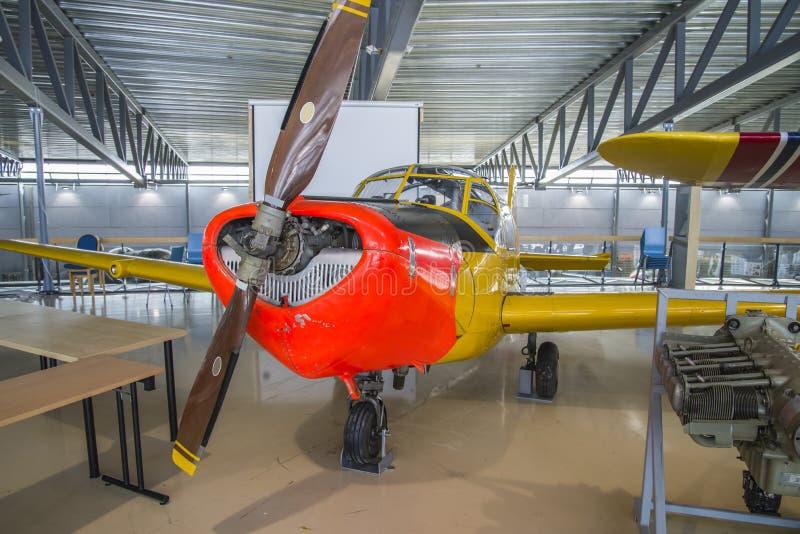 飞机型号, saab 91b-2 safir 免版税库存照片