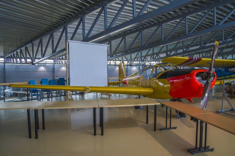 飞机型号, saab 91b-2 safir 库存图片