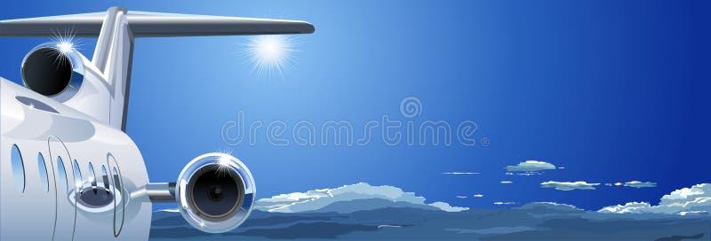 飞机天空向量 库存例证