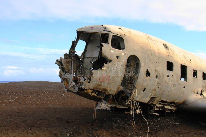 飞机失事船只,冰岛 免版税图库摄影