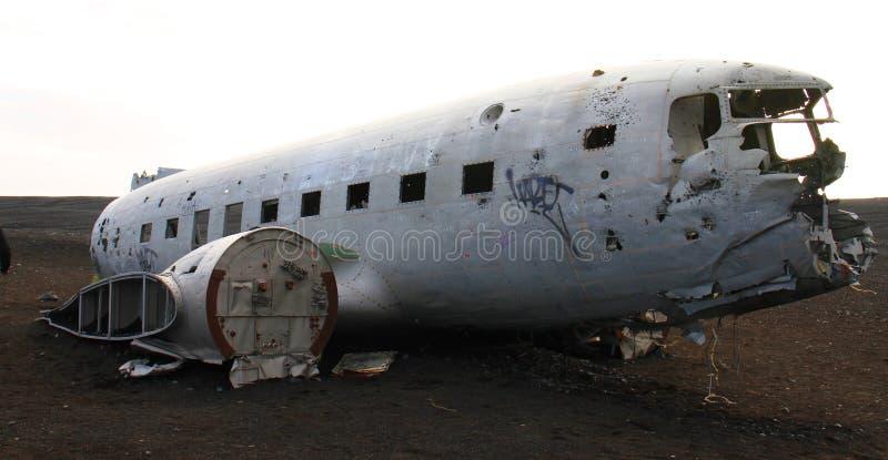 飞机失事船只,冰岛 图库摄影