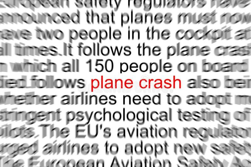 飞机失事 库存照片