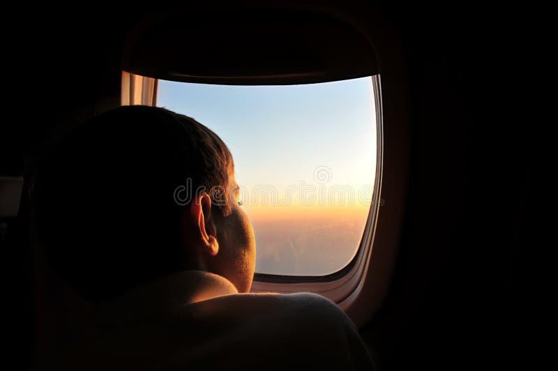 飞机孩子 库存图片