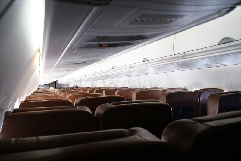 飞机客舱 免版税库存照片