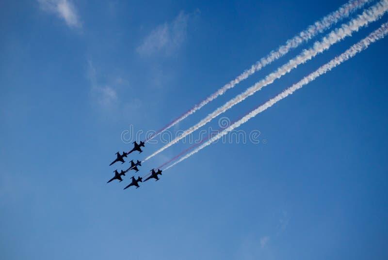 飞机展示 免版税库存照片